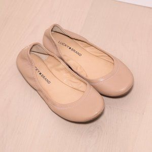 Lucky Brand L.K. Emmie Tan Leather Flats Size 7.5